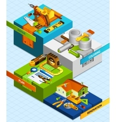 Diy Isometric Concept vector image