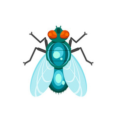 Flat style of fly vector