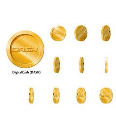 Gold rotate dash frames vector