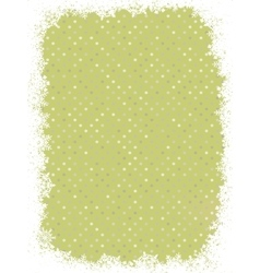 Green polka dot design with snowflakes EPS 8 vector image vector image
