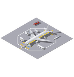 maintenance of a passenger aircraft isometric icon vector image