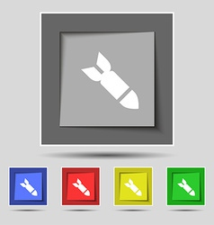 Missilerocket weapon icon sign on the original vector