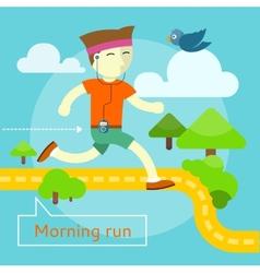 Morning Run Concept vector image
