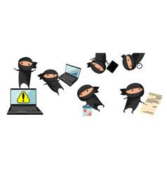 ninja help in business vector image