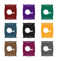 potato chips icon in black style isolated on white vector image