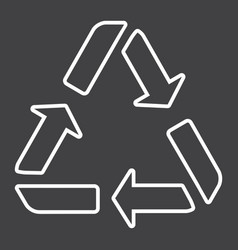 Recycle symbol line icon eco and delivery vector