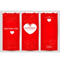 Set od greeting cards for Valentines Day vector image vector image