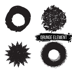 Set of grunge abstract elements vector image vector image