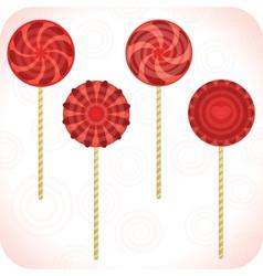 Set Of Lollipops vector image