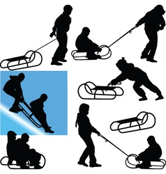 sled vector image