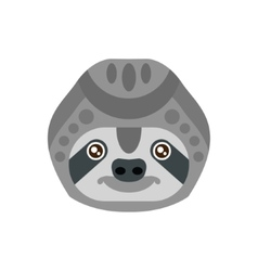 Sloth african animals stylized geometric head vector