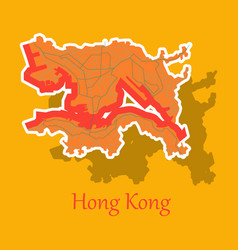 Stickers in form of hongkong vector