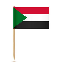 sudan flag toothpick 10eps vector image