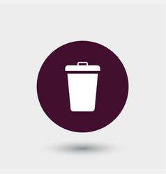 Trashcan icon simple vector