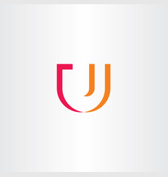 u letter logo sign element vector image vector image