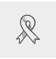 Unity ribbon sketch icon vector