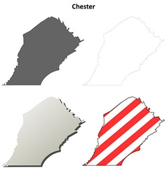 Chester map icon set vector