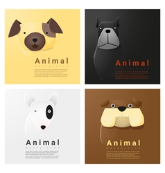 Animal portrait collection with dogs 2 vector