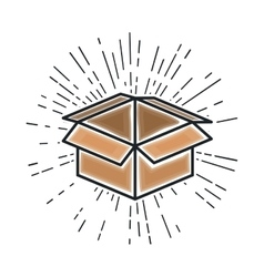 Box carton packing isolated icon vector