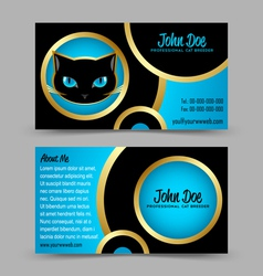 Cat head theme business card vector
