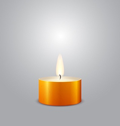 New year candle vector