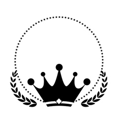 Wreath with crown vector image