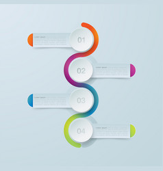 four steps infographics template for diagram vector image