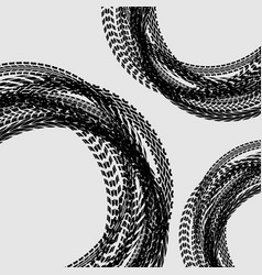 Tire track circle background vector
