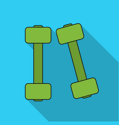 Dumbbells icon in flat style isolated on white vector