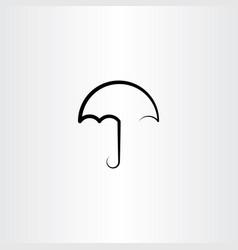 Umbrella black line icon vector