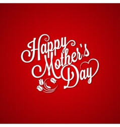 Mothers day vintage lettering background vector