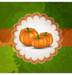 Orange Pumpkin Background vector image