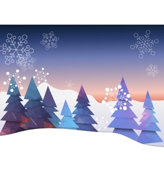 Christmas landscape greeting card with decoration vector