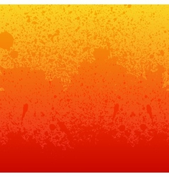 Colorful red orange and yellow paint splashes vector