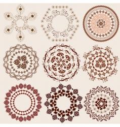 arabesque pattern set vector image