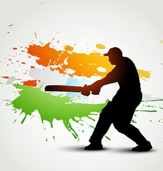 Cricket background vector