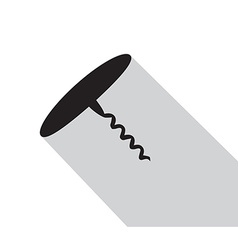 Kitchenware corkscrew flat vector