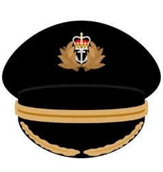 Cap officer of the navy of great britain vector