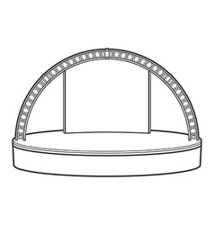 Outline dais round stage metal truss vector