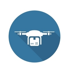 Drone delivery icon flat design vector