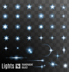 Set of stars shining vector