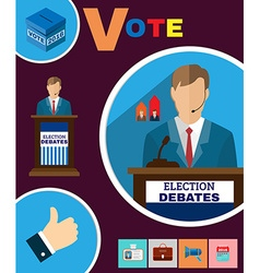 Political election debates 2016 banner vector