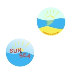 Summer logo on a white background vector
