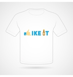 T-shirt with funny print vector