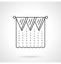 Pelmet curtain flat line icon vector