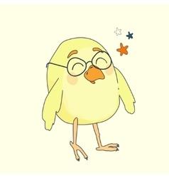 yellow cartoon bird vector image