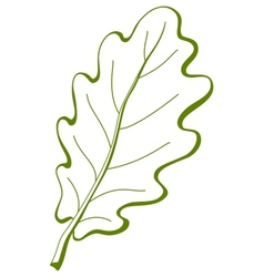 Leaf of oak tree 3 pictogram vector