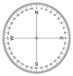 Compass protractor vector