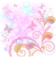 Background with butterflies and figures vector image vector image