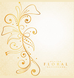 Beautiful golden floral background vector